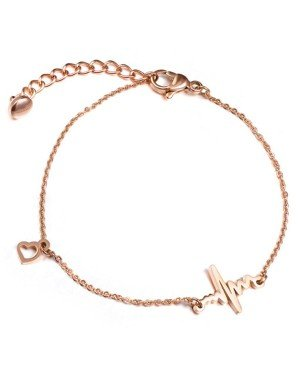 Cilla Jewels armband Heartbeat Rosegoud