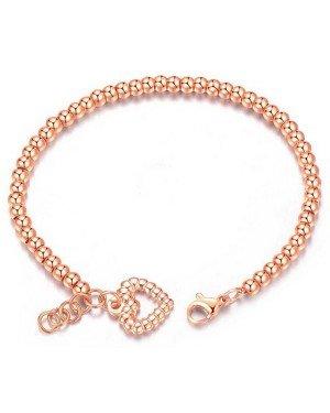 Cilla Jewels Dames Armband Kraalvormig met Hart Rose