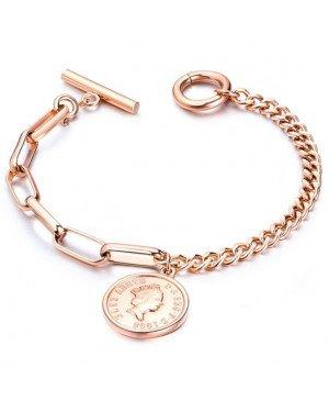 Cilla Jewels Dames Armband met Koningin Elizabeth Munt Rose