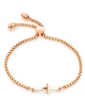 Cilla Jewels Dames Armband met Schuifsluiting en Kruis Rose