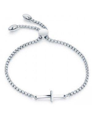Cilla Jewels Dames Armband met Schuifsluiting en Kruis Zilver