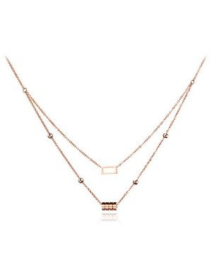 Cilla Jewels dames choker Edelstaal Cylinder Square Rose