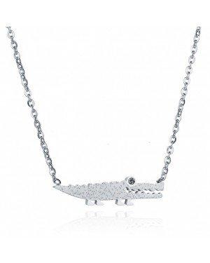 Cilla Jewels dames ketting Edelstaal Alligator Zilverkleurig