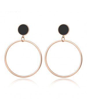 Cilla Jewels Dames oorbellen Circles Rose met Zwart
