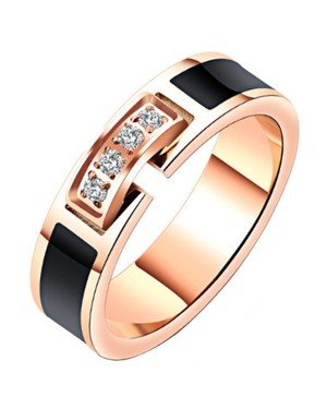 Cilla Jewels dames ring Rosegoud Verguld Zirconia