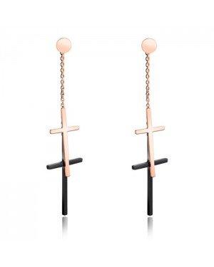 Cilla Jewels Double Cross stud oorbellen