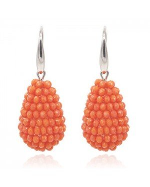 Cilla Jewels Druppel oorhangers Kristal Oranje