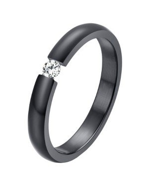Cilla Jewels edelstaal ring Crystal Black