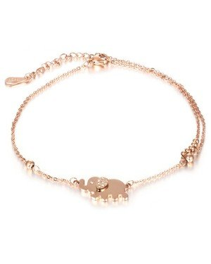 Cilla Jewels enkelband Elephant Rose Goud