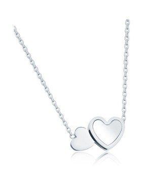 Cilla Jewels ketting Double Heart Verzilverd