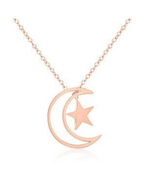 Cilla Jewels ketting Moon Star rosegoud Verguld