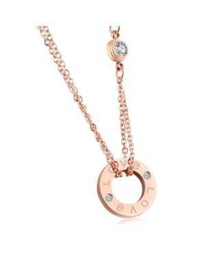 Cilla Jewels ketting Rosegoud Love Pendant