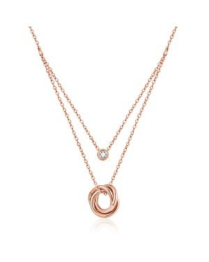 Cilla Jewels ketting Three Circles rosegoud Verguld