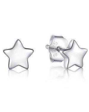 Cilla Silver dames oorknoppen 925 Zilver Stars