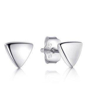 Cilla Silver dames oorknoppen 925 Zilver Triangle zilver
