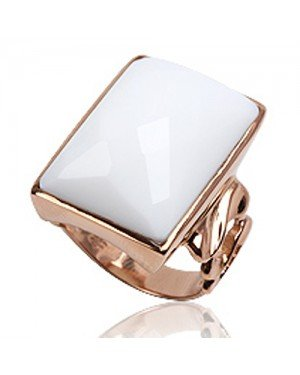 Cocktail ring 925 zilver Roségoud Wit Agaat
