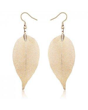 Dames oorhangers Blad oorbellen Leaf Goudkleurig