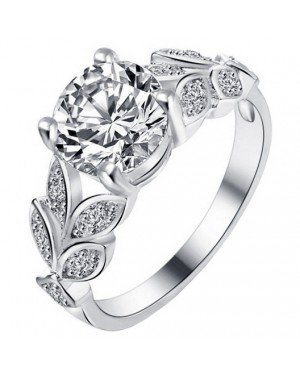 Dames ring LGT Jewels Crystal Leaf