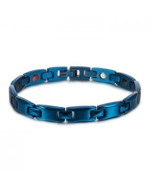 Energie armband Magnetisch Edelstaal Mendes Blauw