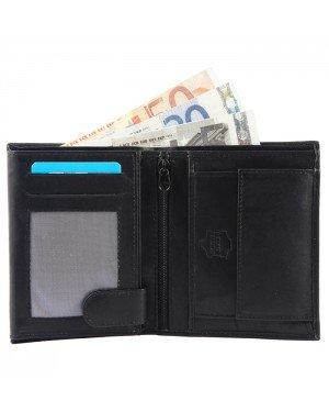 Excellanc heren portemonnee leer Billfold Zwart
