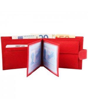 Excellanc heren portemonnee leer Rood