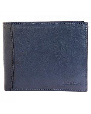 Excellanc leren heren portemonee Blauw