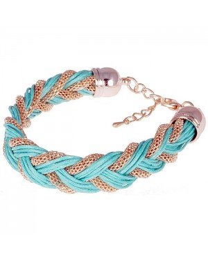 Fashion armband Friendship Chain Turquoise Gold