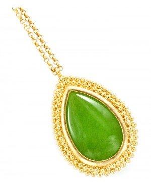 Fashion dames ketting Green Stone