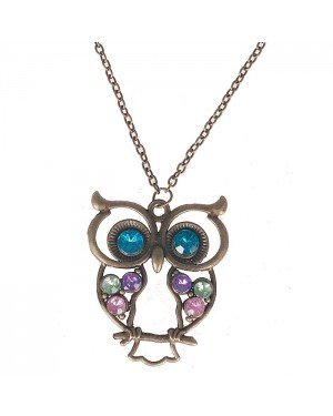 Fashion ketting Owl Chrystal