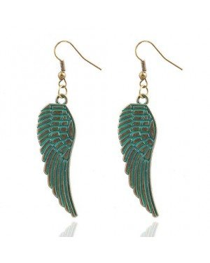 Fashion oorbellen Angel Wings Turquoise