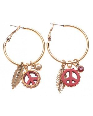 Fashion oorbellen Hoop Peace D-C6.5