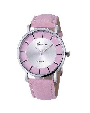 Geneva dames horloge Retro Roze