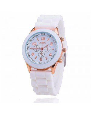 Geneva dames horloge Silicon White Gold