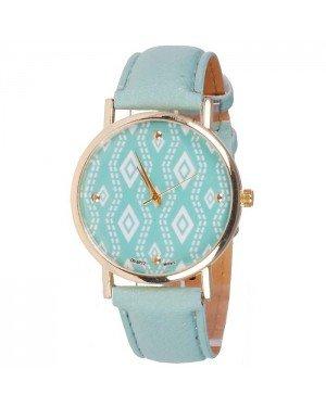 Geneva Fashion horloge Aztec Gold Turquoise