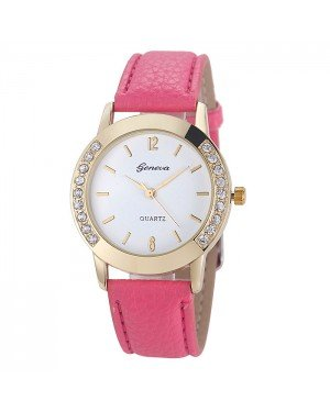 Geneva mode horloge Diamonds Gold Pink