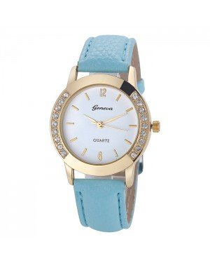 Geneva mode horloge Diamonds Gold Turquoise