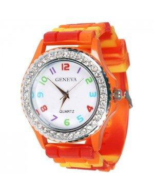 Geneva siliconen horloge Multicolor
