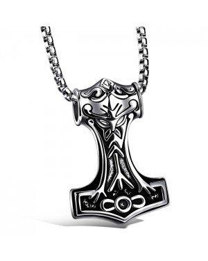 Heren ketting Viking Hammer Of thor kettinghanger Zilverkleurig