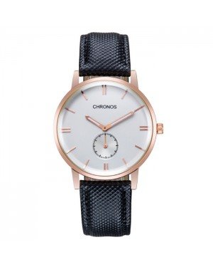 Heren horloge Chronos Black White Rose