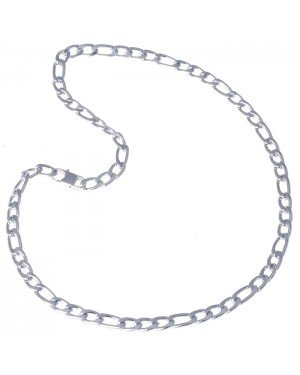 Heren ketting edelstaal Figaro Zilver 8mm
