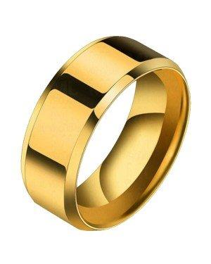 Heren ring Titanium Goudkleurig 8mm