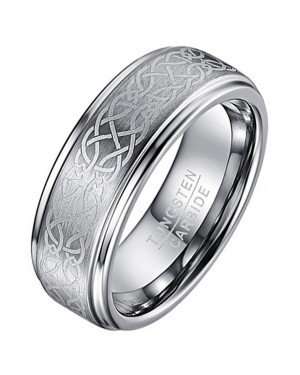 Heren ring Wolfraam Celtic Knot Brushed