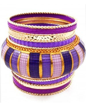 Hippe dames bangle Purple