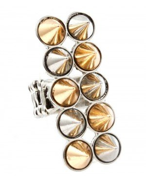 Hippe dames ring Spikes Zilver