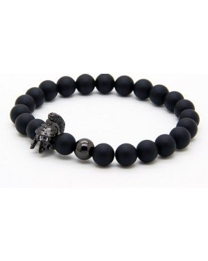 Kralen armband mannen Agaat Roman Warrior Black