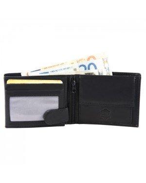 Leren heren portemonnee Excellanc Zwart