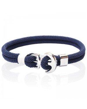 LGT Jewels Anker armband heren Touw Navy