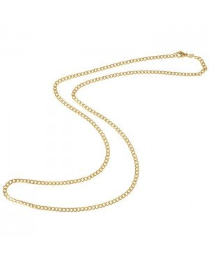 LGT Jewels Cubaanse koord ketting Goudkleurig 3mm