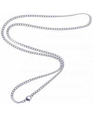 LGT Jewels Cubaanse koord ketting Zilver 3mm