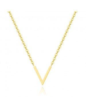 LGT Jewels Dames kertting met V Hanger Goudkleurig